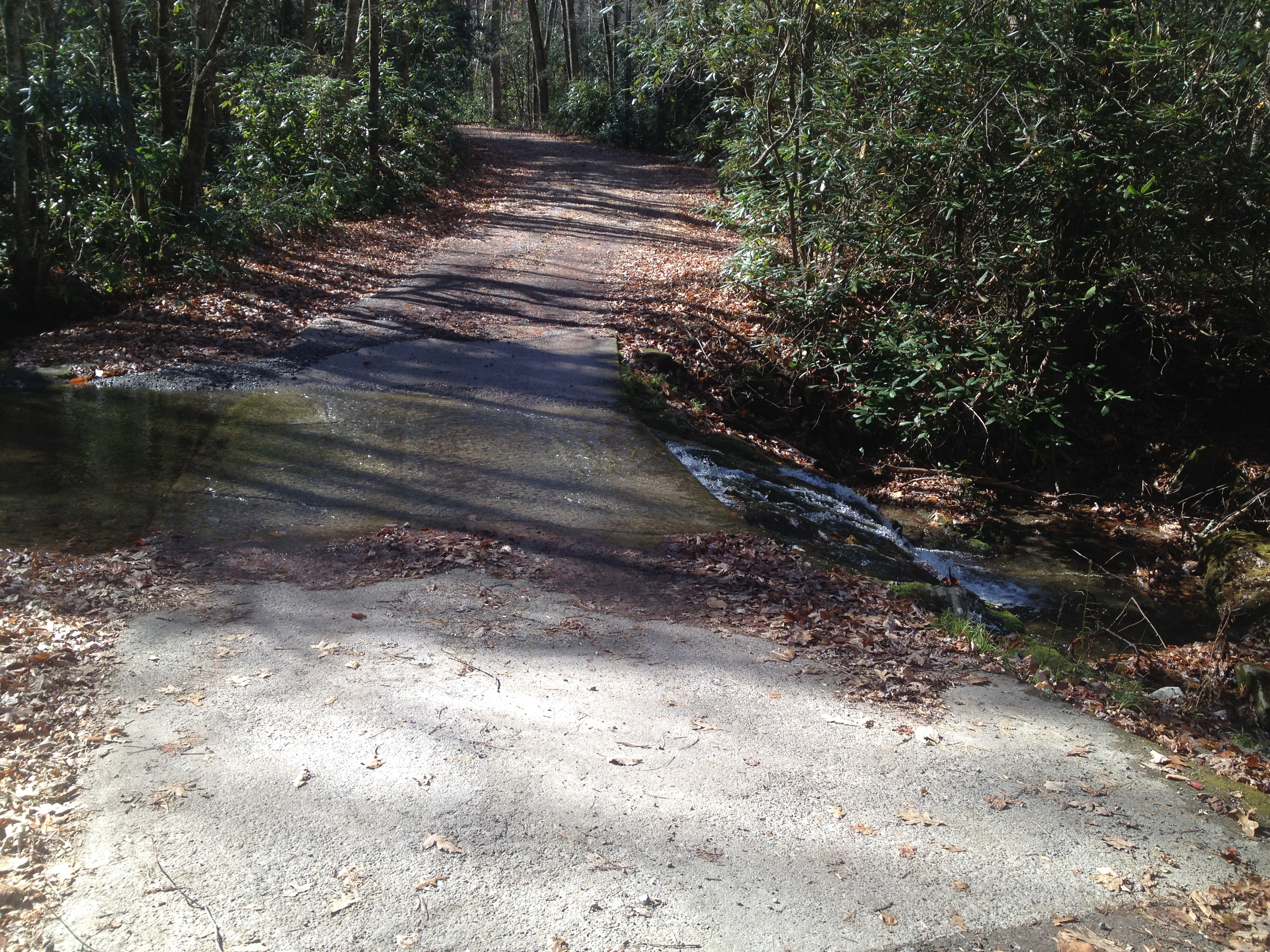 9 miles and a dozen plus water crossings of one-way fun on Parson's Branch Road