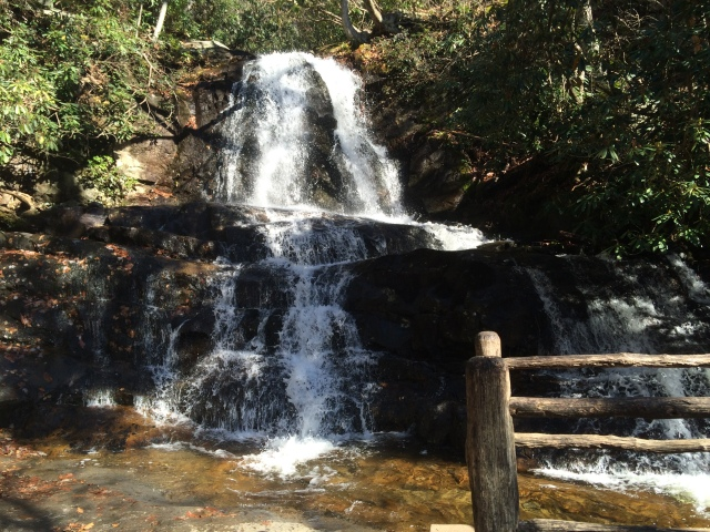 Upper part of Laurel Creek Falls.