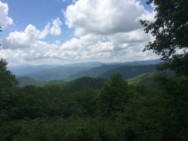 And here is the view from those benches on Flat Top Mountain trail.