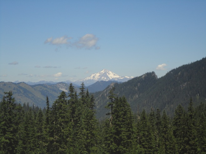 Glacier Peak is one of the 2 most active volcanos in Washington. You can guess the other one. This bad boy last erupted around 1700 and has been erupting around every 400 years so you better get ready. Photo taken during climb to Desolation Pass.